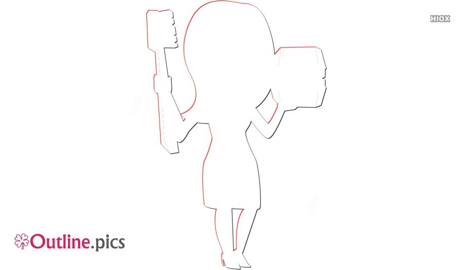 Girl Dentist Outline Image