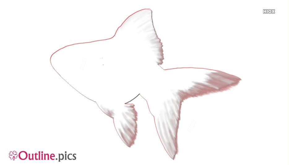 Goldfish Drawing Outline Image