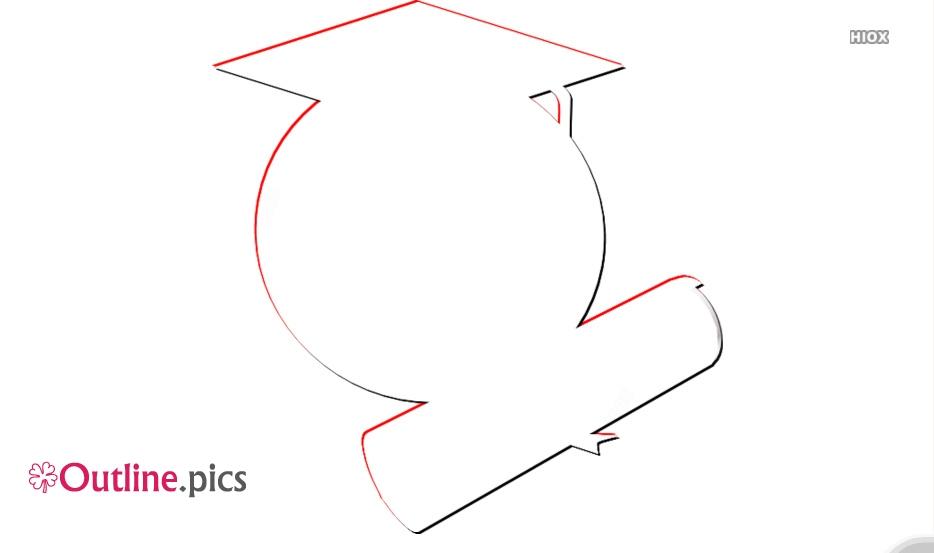 Graduate Clip Art Outline
