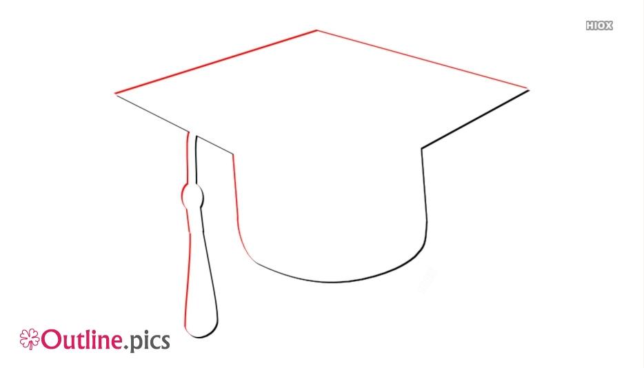 Graduation Cap Outline Png