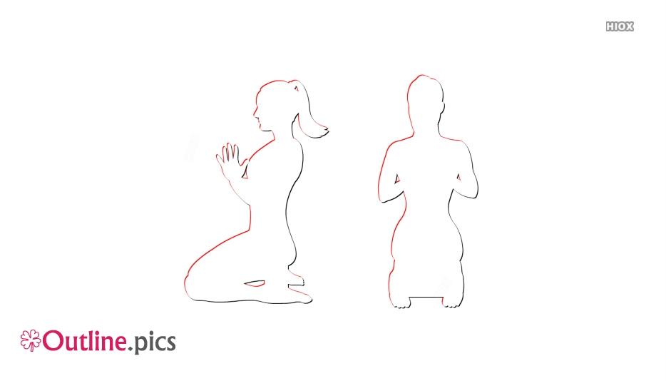 Hero Pose Drawing,virasana Outline Image
