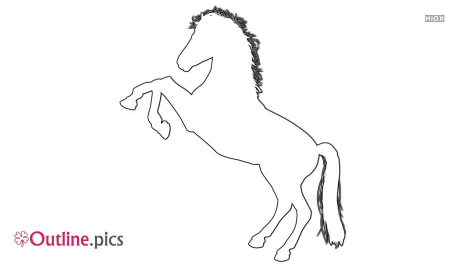 Horse Outline For Kids