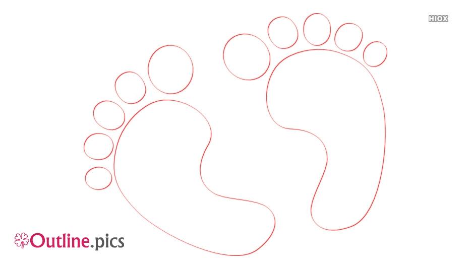 Human Footprint Vector Outline Image