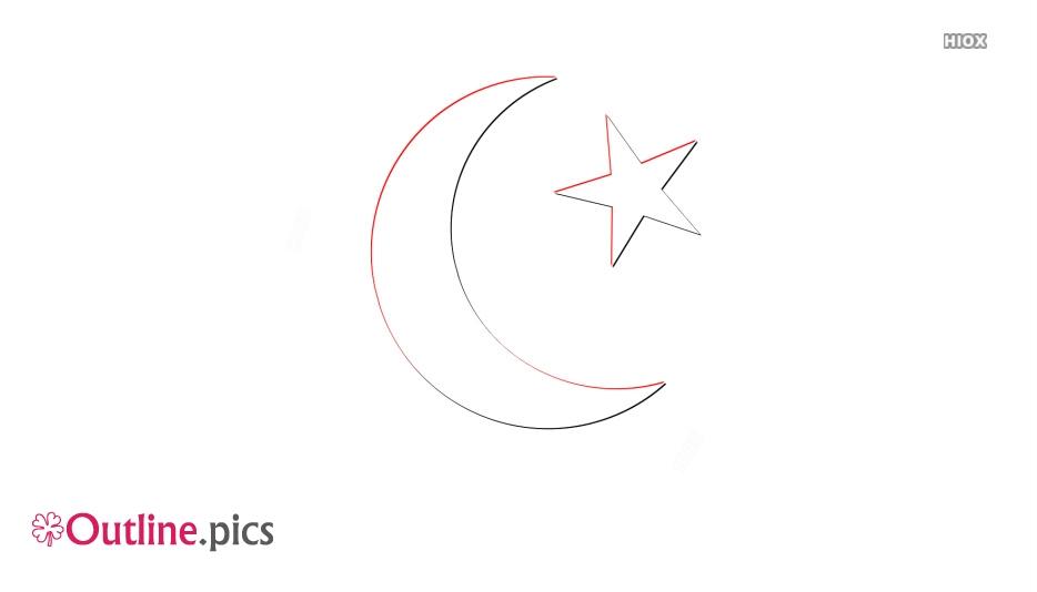 Islam Symbol Outline