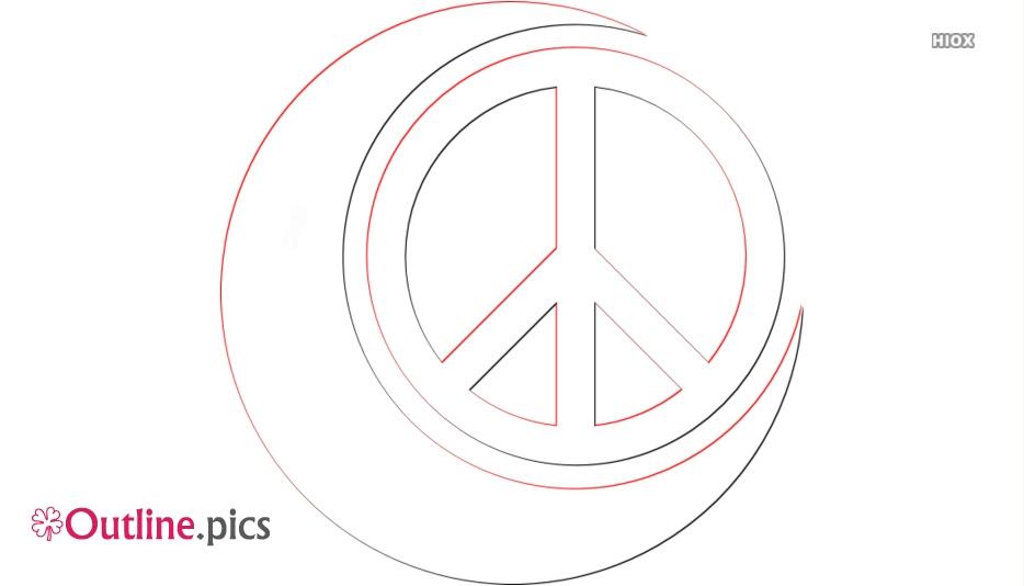 Peace Symbol Outline Images
