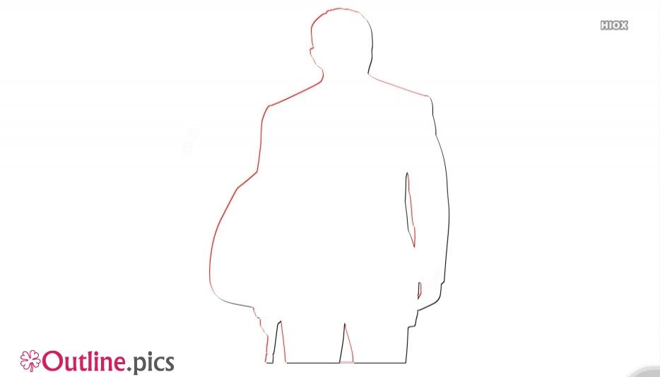 James Bond Clip Art Image Outline