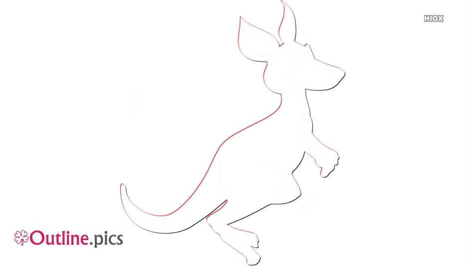 Kangaroo Outline Clip Art