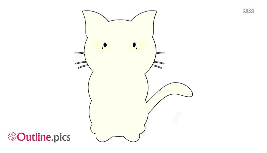 Kitten Clipart Outline
