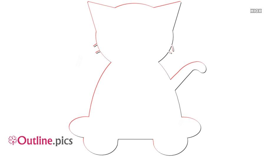 Kitten Outline Pic