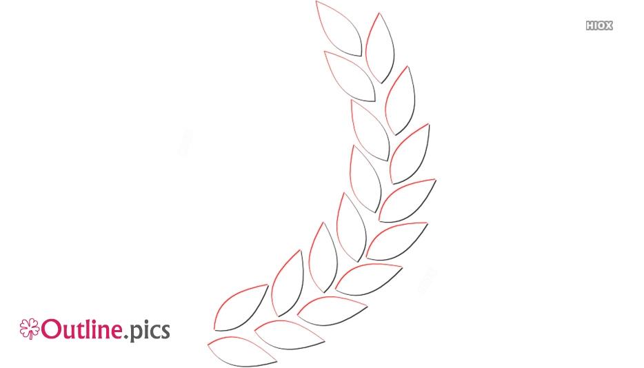 Leaf Garland Outline Images
