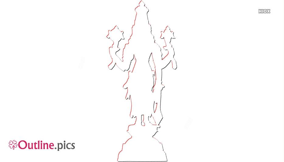 Lord Vishnu Outline Images