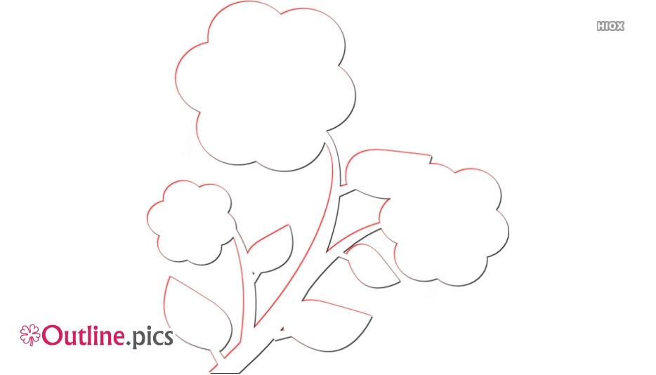 May Flower Clip Art Outline