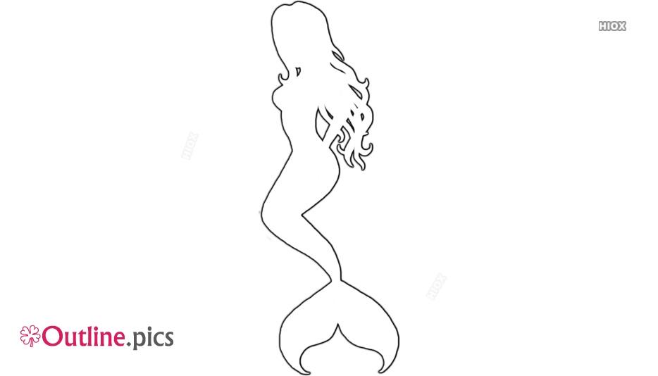 Mermaid Outline Art
