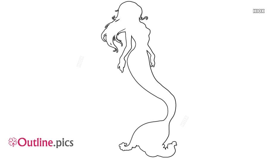 Mermaid Outline Png