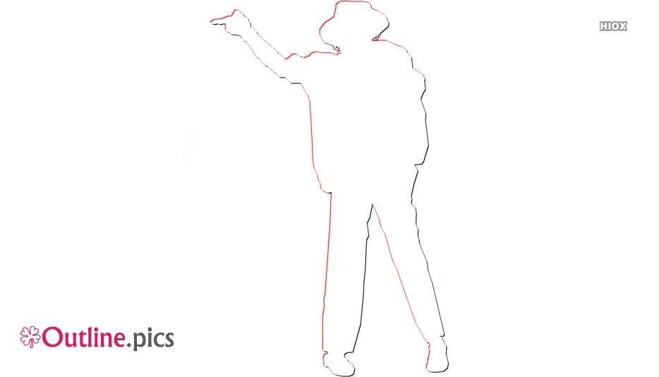 Michael Jackson Outline Clipart Vector