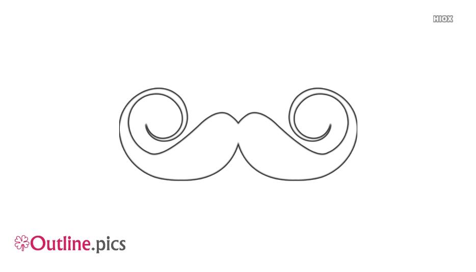 Moustache Outline Template