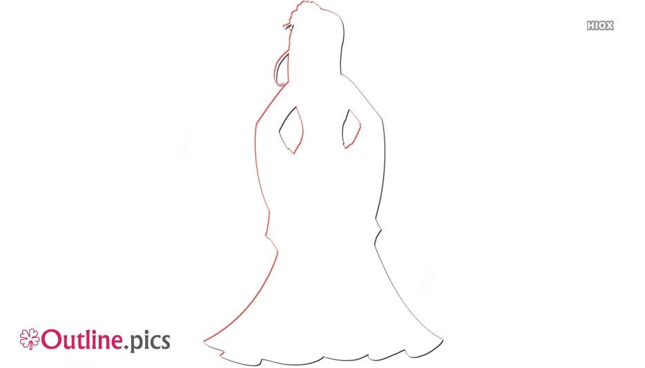Mulan Princess Vector Outline Image