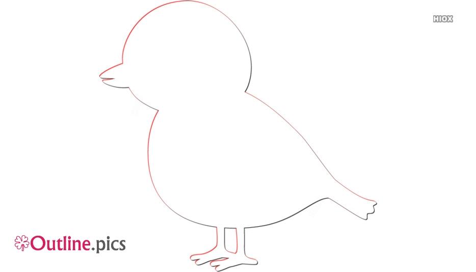 Mynah Bird Outline Image