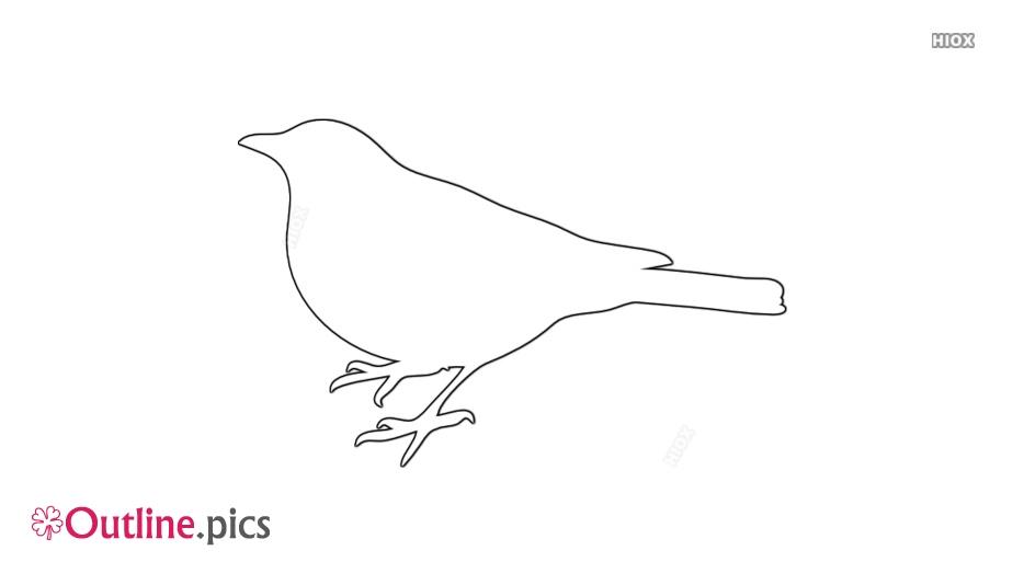 Origami Bird Outline
