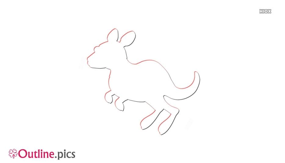 Outline Drawing Of Kangaroo