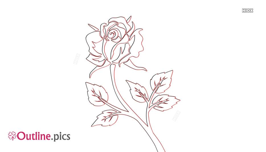 Outline Of Rose Flower