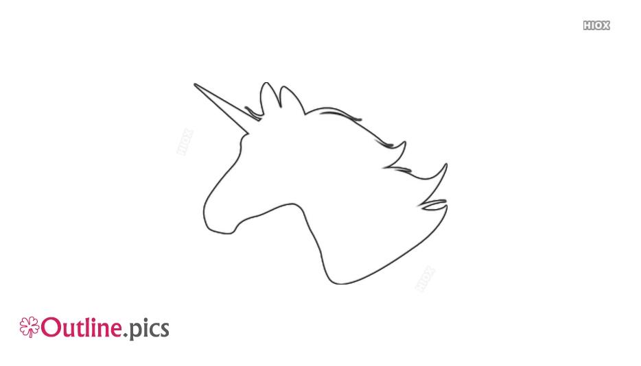 Outline Of Unicorn Head