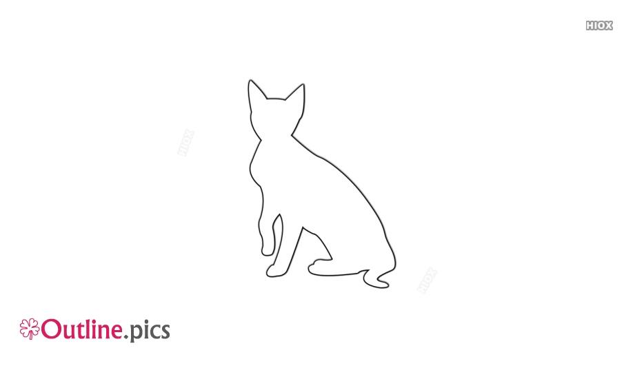 Pet Cat Outline
