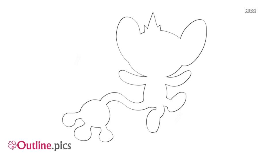 Pokemon Aipom Pokedex Outline Image