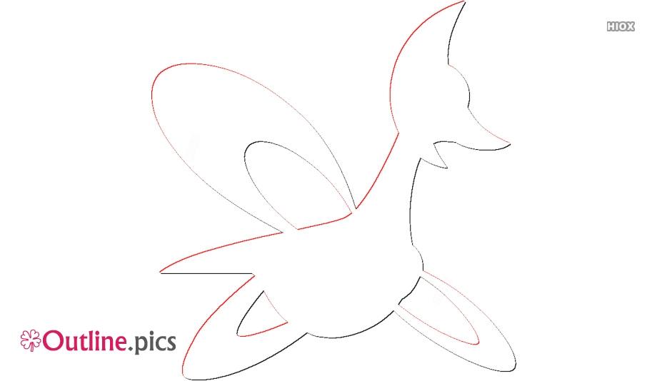 Pokemon Cresselia Outline For Coloring