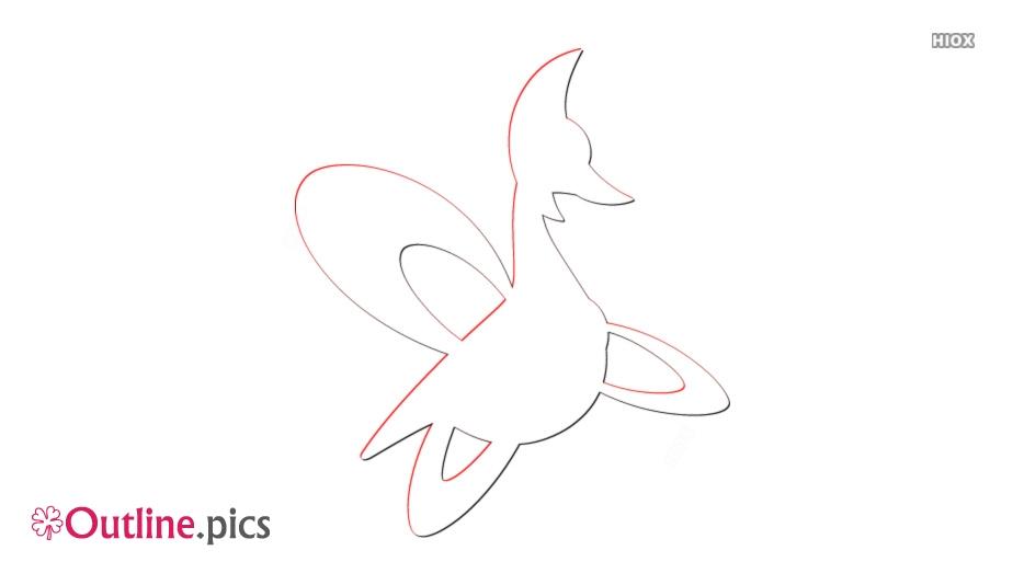 Pokemon Cresselia Outline Image