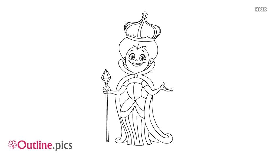 Queen Outline Image