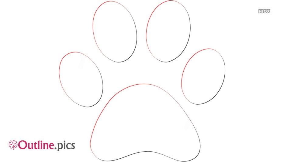 Rabbit Footprints Clipart | Bunny Footprints Outline Image