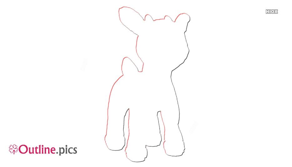 Rudolph Outline Art
