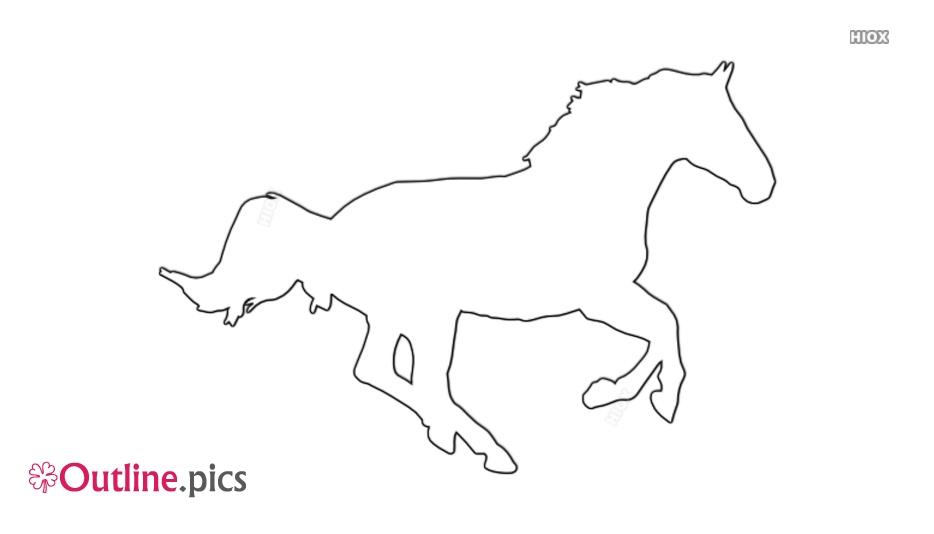 Running Horse Outline Image