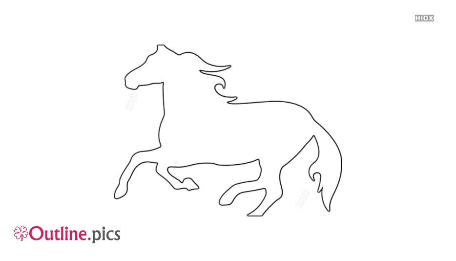 Running Horse Outline Tattoo