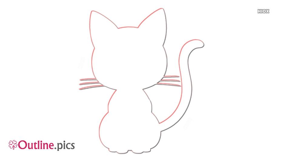 Sailor Moon Cat Outline