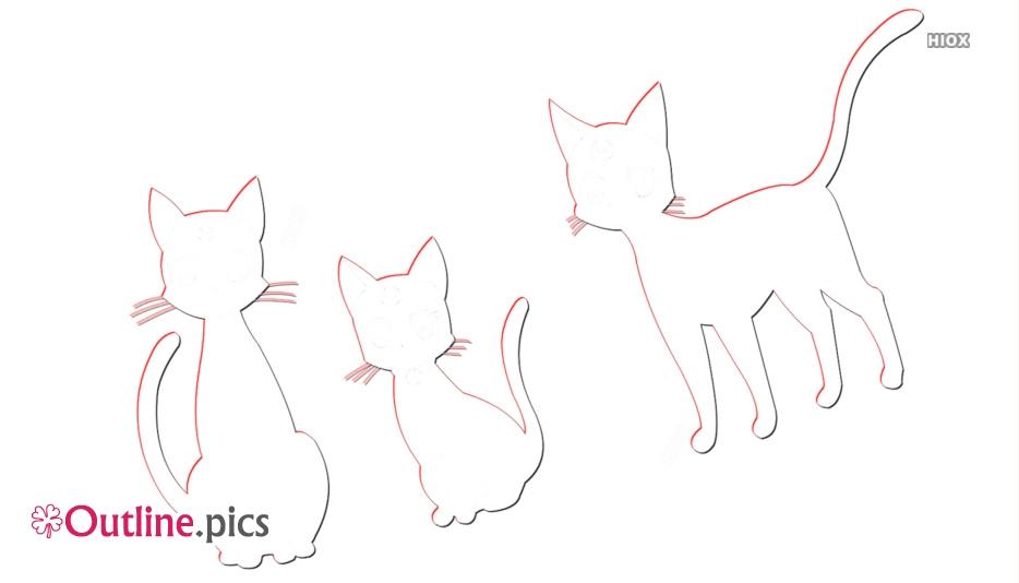 Sailor Moon Cats Outline