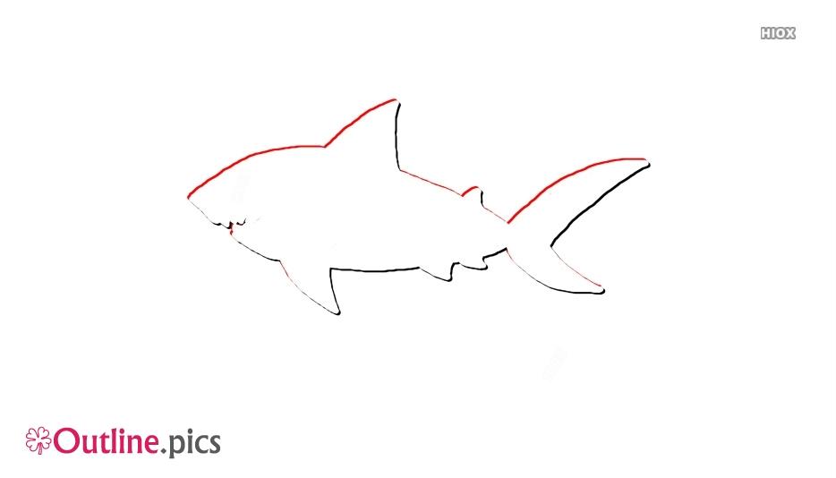 Shark Clipart ClipGround Outline