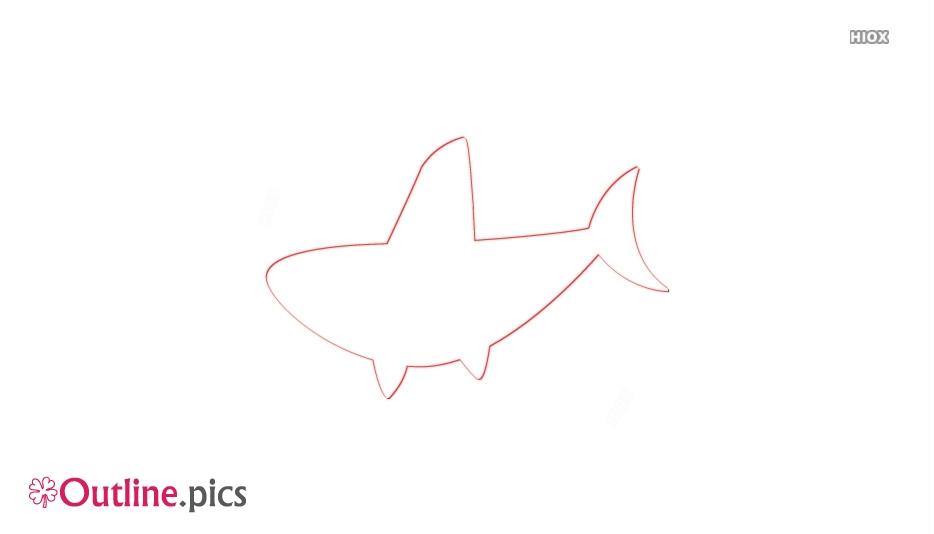 Shark Fin Cartoon Outline