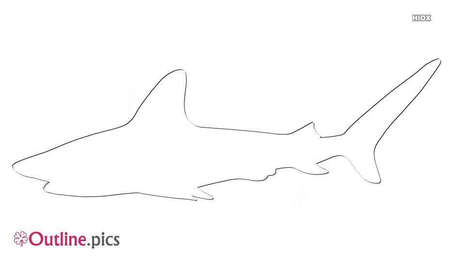Shark Outline Free Vector Art, Drawing