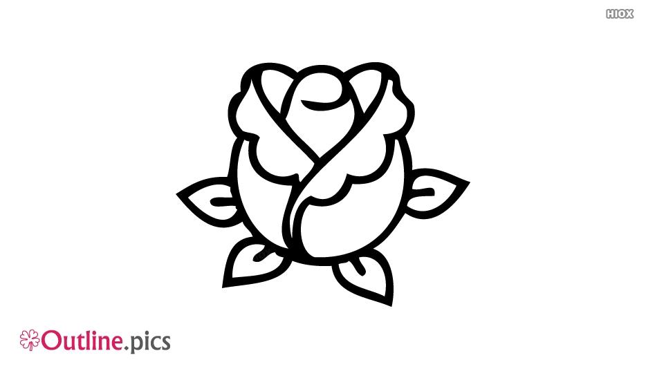 Simple Flower Outline Image