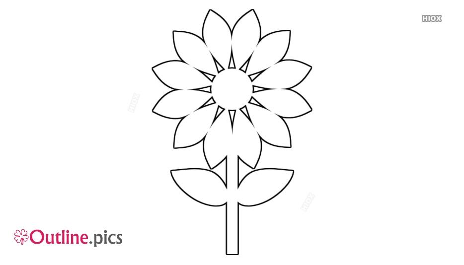 Simple Sunflower Outline