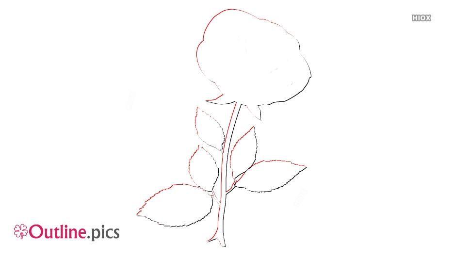 Single Rose Outline Free Vector Art