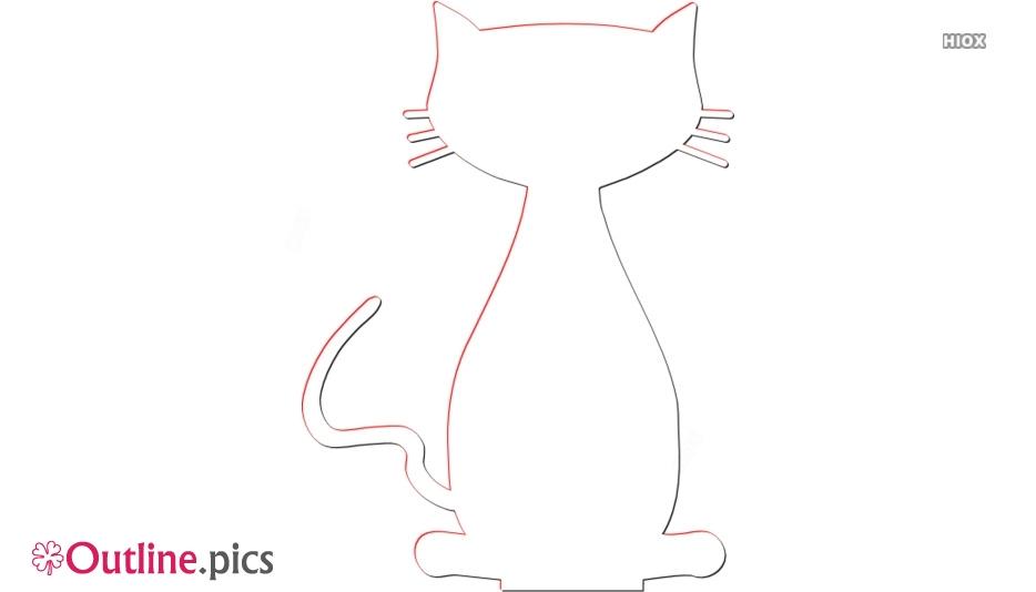 Sitting Cat Outline Image