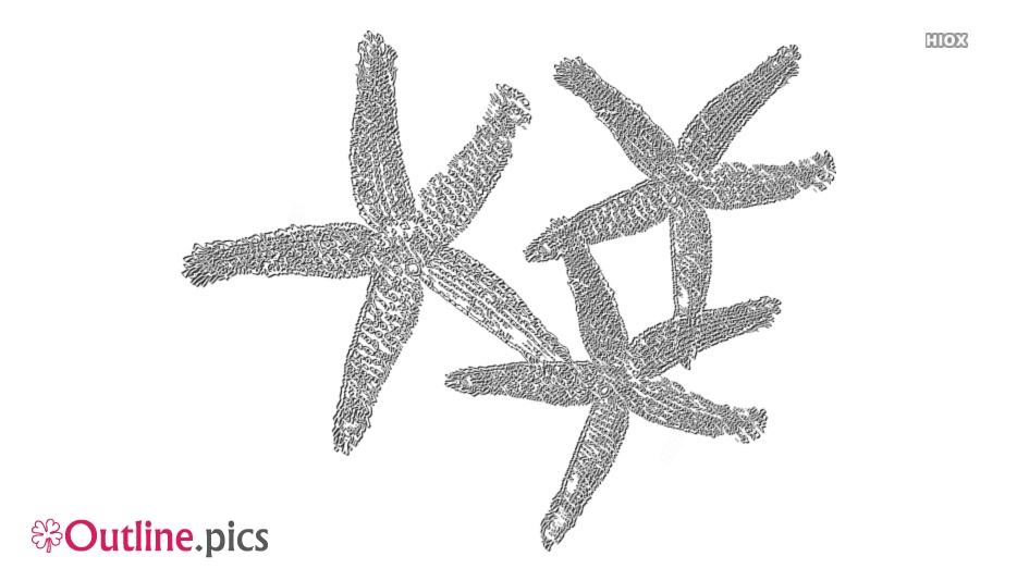 Starfish Outline Free Vector Art