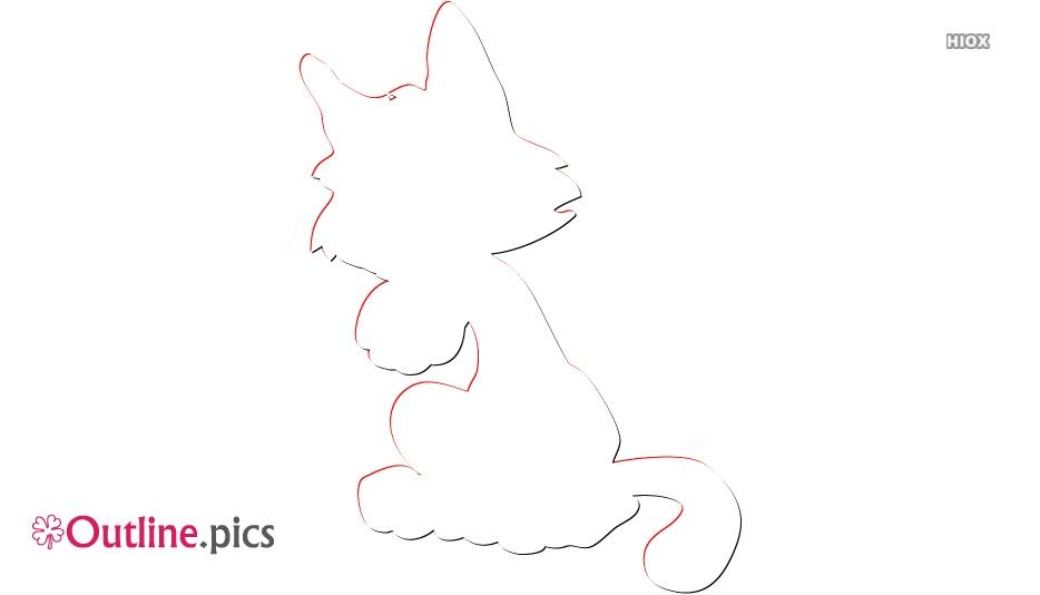 Stuffed Kitty Outline Clip Art