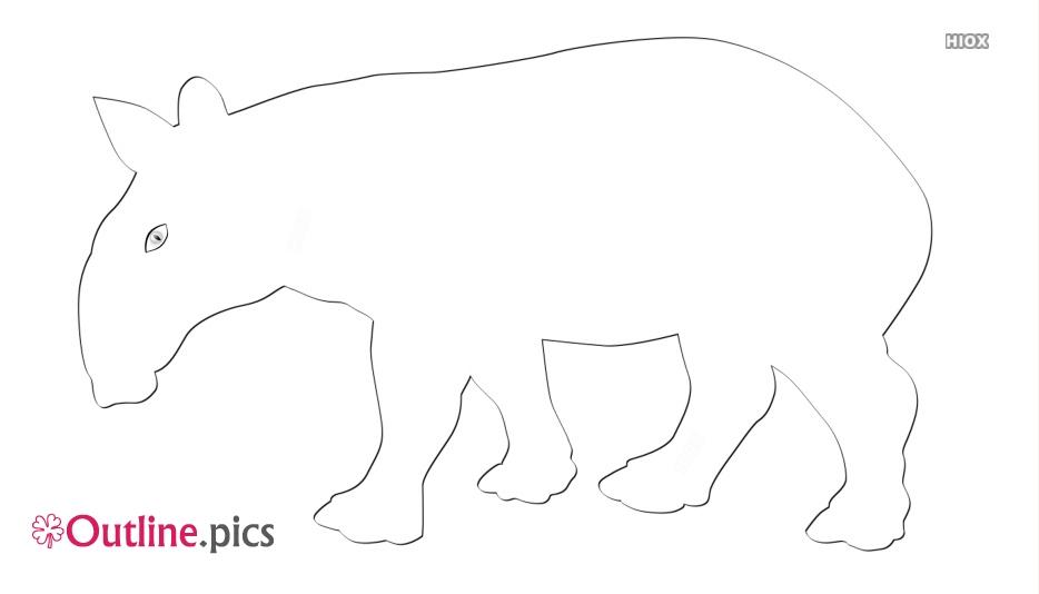 Tapir Outline Image