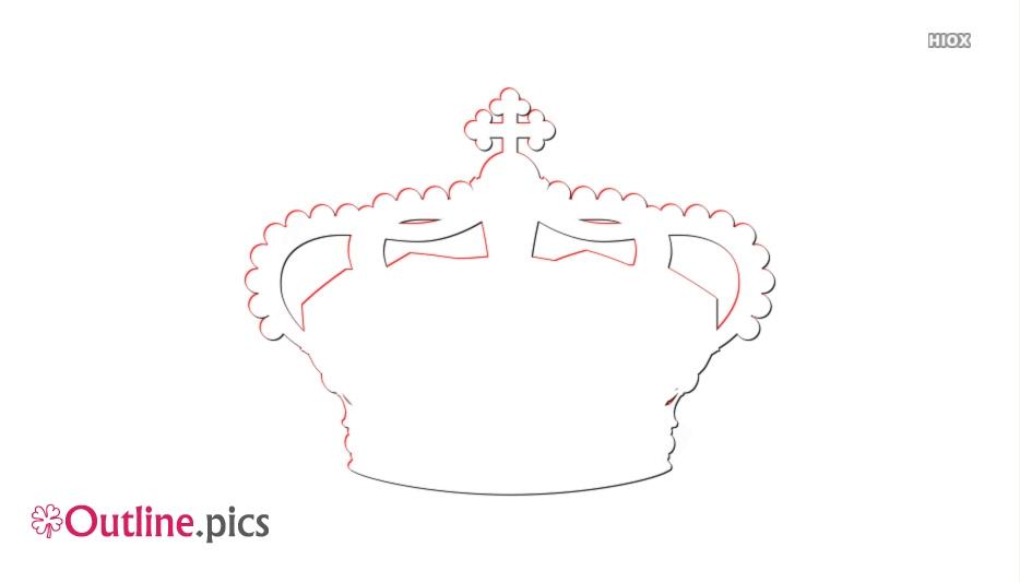 The Italian Monarchist Crown Outline