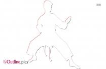 Adult Karate Outline Clip Art