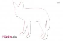 African Wild Dog Japari Outline